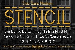 Civic Sans Medium Stencil