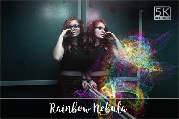 5K Rainbow Nebula Ovelrays