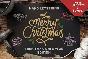 Hand Lettering Christmas & New Year
