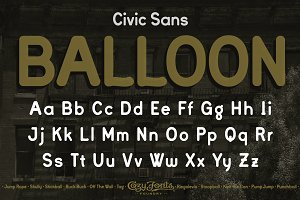 Civic Sans Balloon