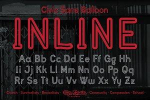 Civic Sans Balloon Inline
