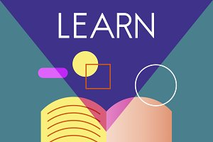 Learn education graphic concept