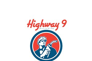 Highway 9 Gasoline Station Logo