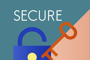 Secure protection safety graphic
