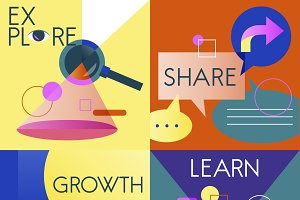 Explore Share Growth Learn Vector