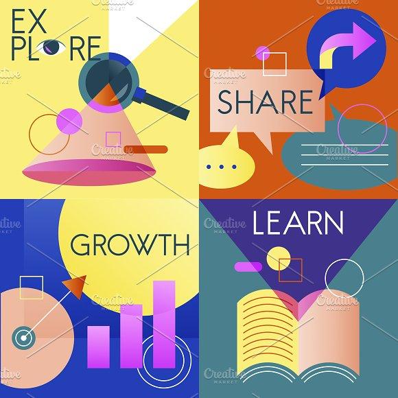 Explore Share Growth Learn Vector