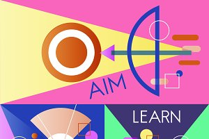 Aim Target Learn Graphic