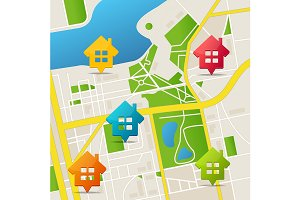 City Map Real Estate Background