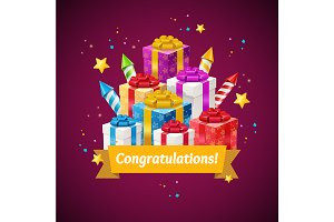 Congratulations Greeting Card Concep