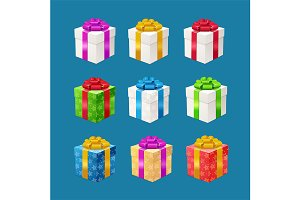 Realistic 3d Detailed Present Boxes