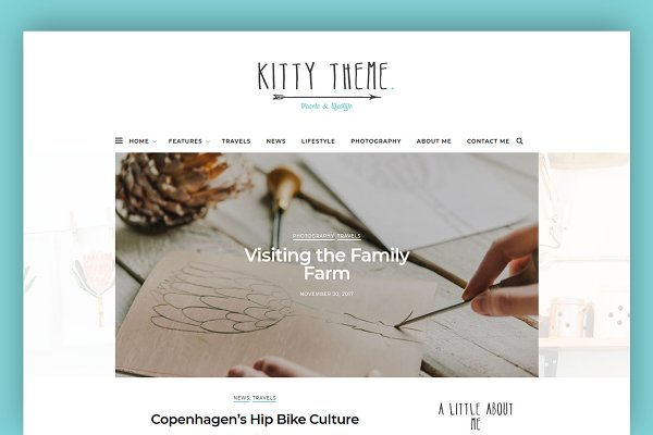 WordPress Blog Themes: Interinsco Themes - Kitty - A Blog WordPress Theme