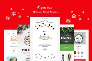 Gifts Email - 8 Christmas Templates