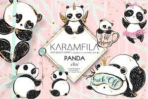Cute Pandas Clipart