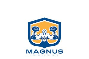 Magnus Vitamins and Supplement Logo