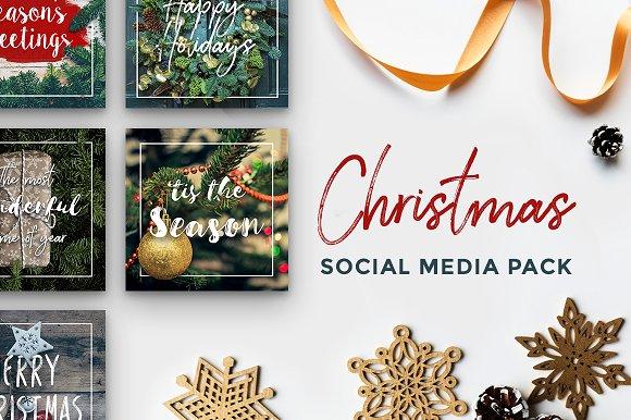 Christmas-Themed Social Media Pack
