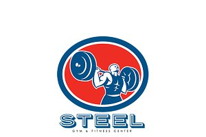 Steel Gym Fitness Center Logo
