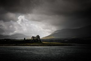 Castle in the highlands of Scotland