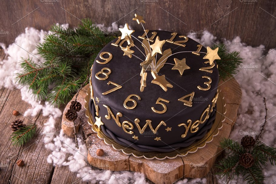 happy new year cake