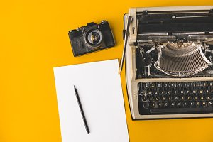 Vintage typewriter,  Film Camera, A