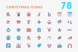 Christmas Dual tone Icons