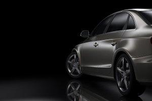 Dark background car silhouette