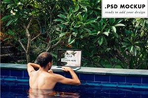 Pool website mockup for freelance