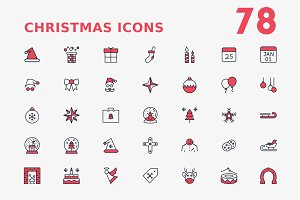 Christmas Monotone Icons