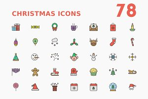 Christmas Filled Outline Icons