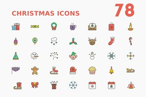 Christmas Funky Outline Icons