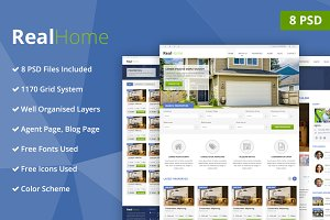 Real Home PSD Website Template