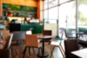 Blur coffee shop restaurant with abs