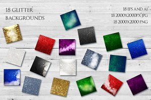 18 Glitter Shiny Backgrounds