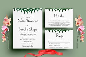 Leaf Wedding Invitation Set