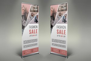 Women's Clothing Roll Up Banner