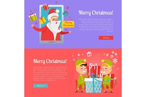Poster of Colourful Merry Christmas Pictures.