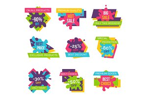 Set Price Labels Total Sale on All Products Icons