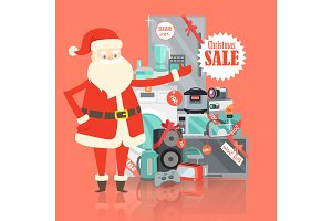 Christmas Big Sale from Santa Claus in Storehouse