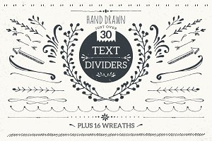 Text dividers mini pack