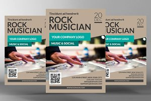 Rock Musician Flyer