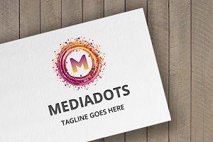 MediaDots (Letter M) Logo