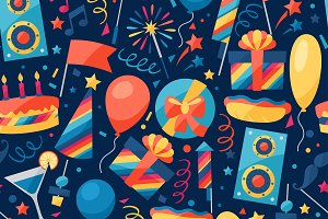 Party seamless patterns.