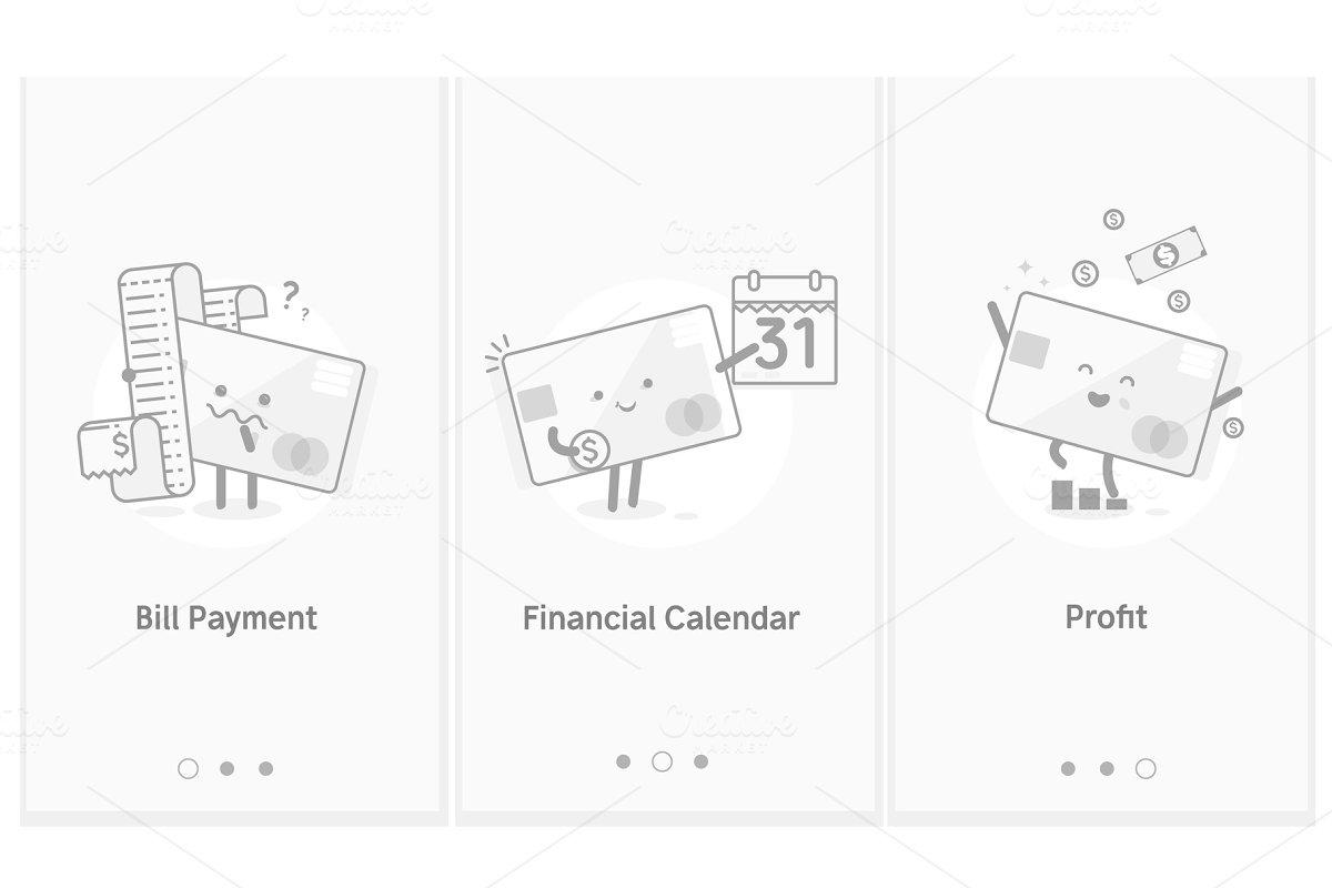 Growing Profit Bill Payment Financial Calendar Modern Interface Ux