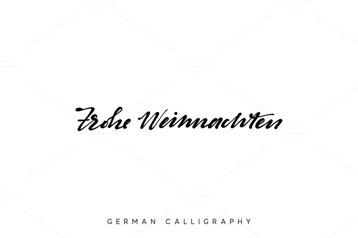 Frohe Weihnachten Text.German Text Frohe Weihnachten Merry Christmas Hand Drawn Calligraphy Lettering