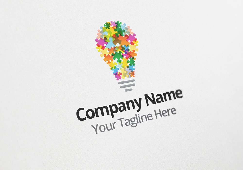 Puzzle Idea Logo Design Template Logo Templates Creative Market