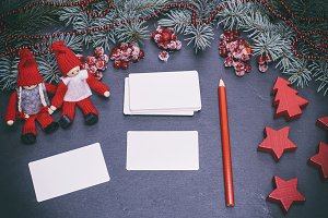 blank white paper  cards