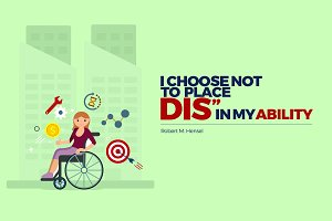 Woman with Disability Illustration