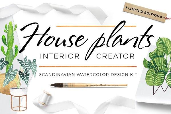 Scandi house plants interior creato…
