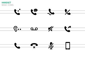 Handset icons on white