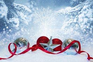 White Christmas scene