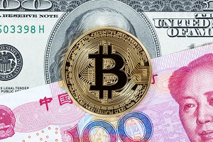 Bitcoin with mixed paper currencies